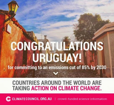 Uruguay commits to reducing emissions by 85% by 2030