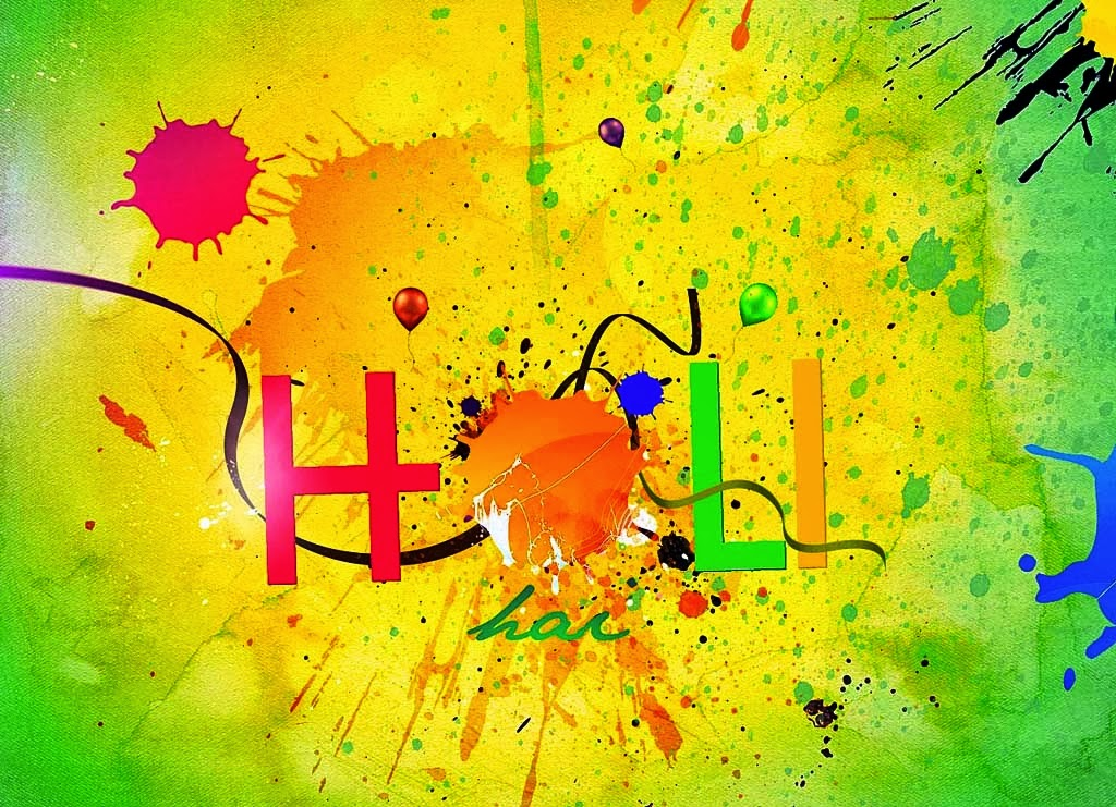 Holi Text Images Free Download