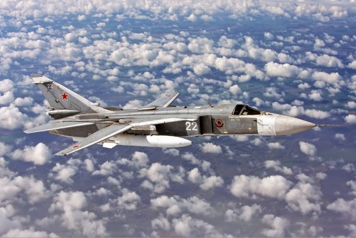 Bomber SU-24 Rusia Jatuh dekat Volgograd