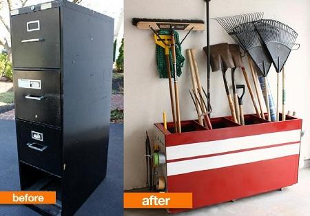 Mueble reciclado contenedor para for Mueble herramientas