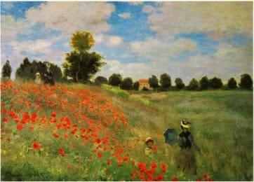 Champs de coquelicots - Monet