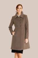 Palton topo din stofa de lana 432 (Ama Fashion)