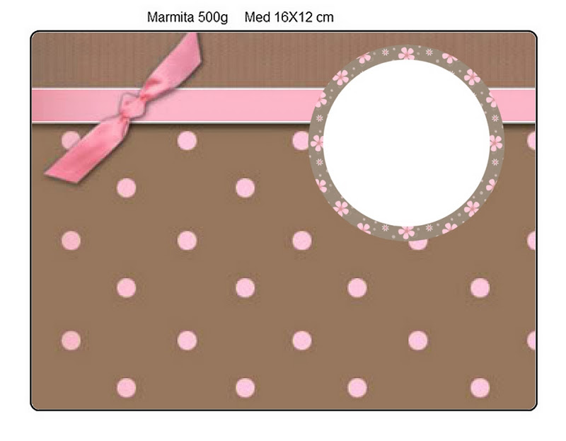 Marrom e Rosa – Kit Completo com molduras para convites, rótulos ...