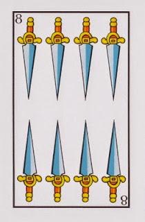 ocho de espadas baraja española