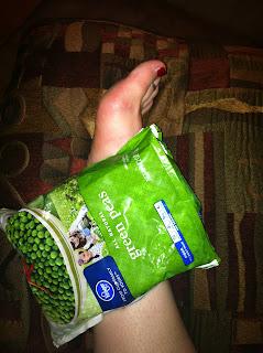 ankle sprain frozen peas