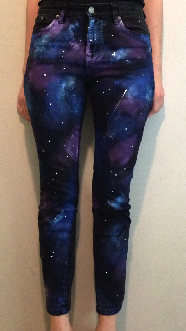Prudence and Austere Welcome to My Galaxy (DIY Galaxy Pants)