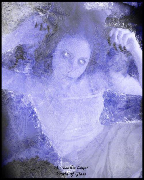emilie leger foto manipulação digital surreal mulheres modelos sombria Mundo de vidro