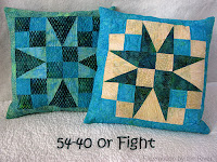 54-40 or Fight Batik pillows