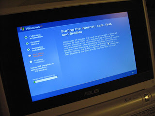 USB Boot Install Windows XP Asus Eee PC