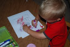 little kid coloring for stuff to do with kids