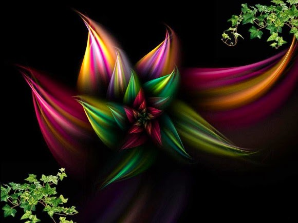 Abstract Flowers Design Wallpaper
