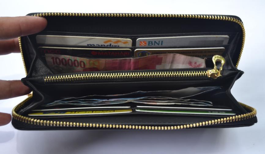 Dompet Kulit Asli Wanita Polos Panjang