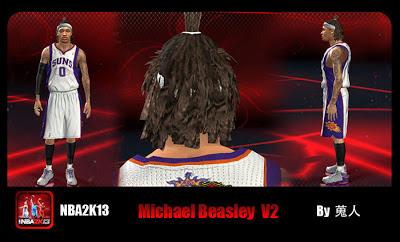 NBA 2K13 Michael Beasley New Hairstyle Mod