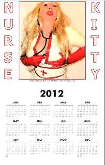 Pin up Sticker Chicks Calendar ~ Nurse Kitty Boutique ~ Support Marine Medics for Civilians