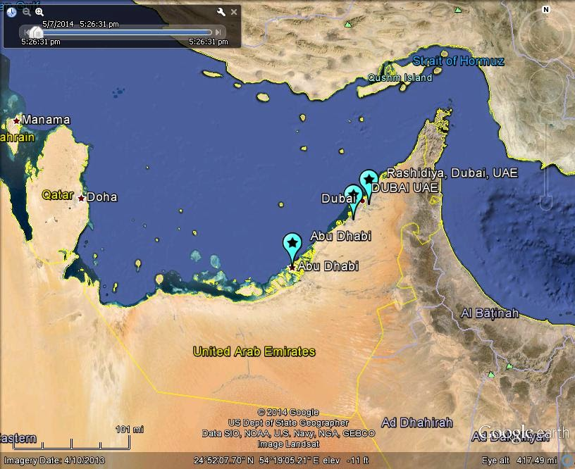 abu dhabi dubai uae saudi arabia fireball meteor 31may2014