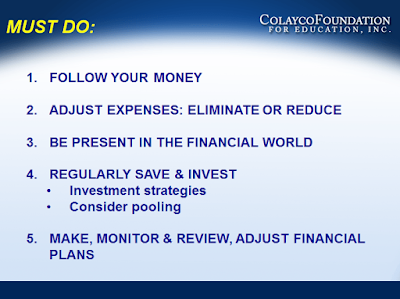 Money Matters - Must Do - Summary  - Colayco
