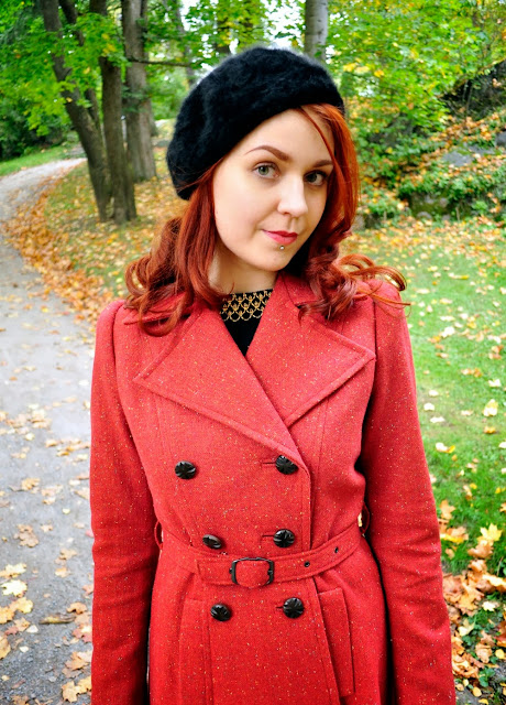 40s style autumn coat by Cherise at VintageFollies