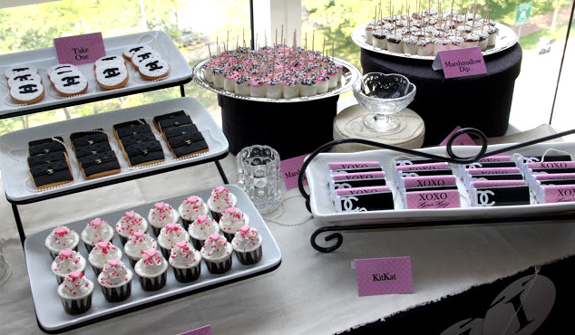 Coco Chanel Dear Hanis Haizi Party by Adibah Karimah showing cakes