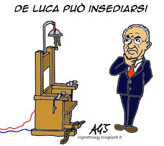 De Luca, ricorso satira vignetta