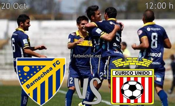 Barnechea vs Curicó Unido - Apertura Primera B - 12:00 h - 20/10/2013