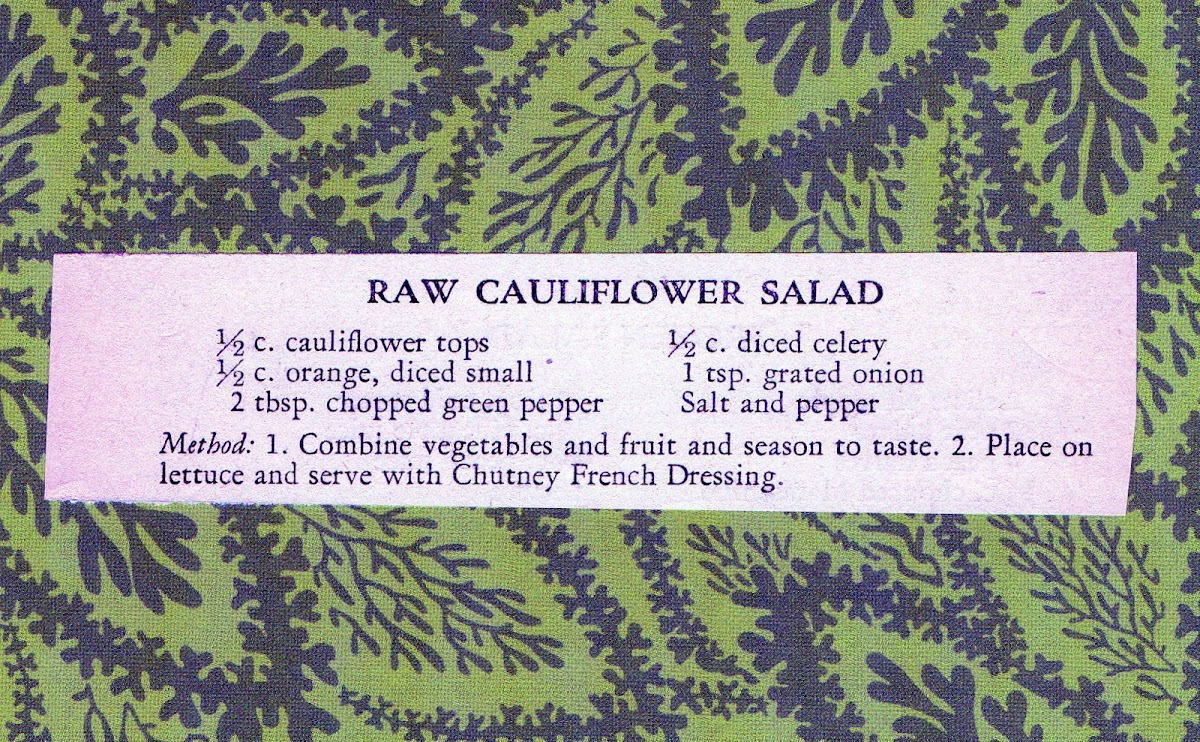 Raw Cauliflower Salad (quick recipe)