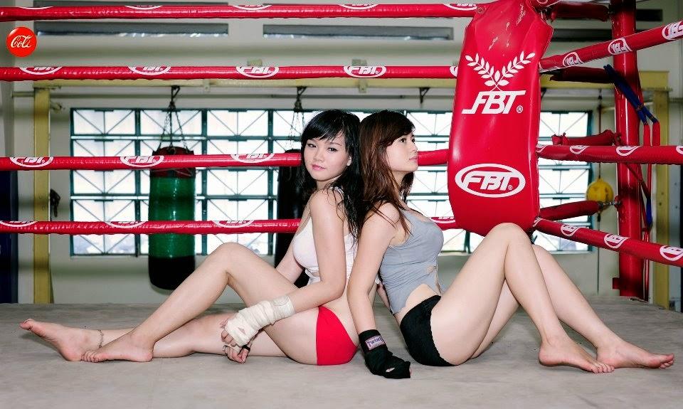 Khi phái đẹp đấu boxing 9