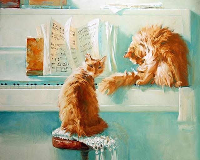 D.W.C. Cute Musicians -  Painter Maria Pavlova