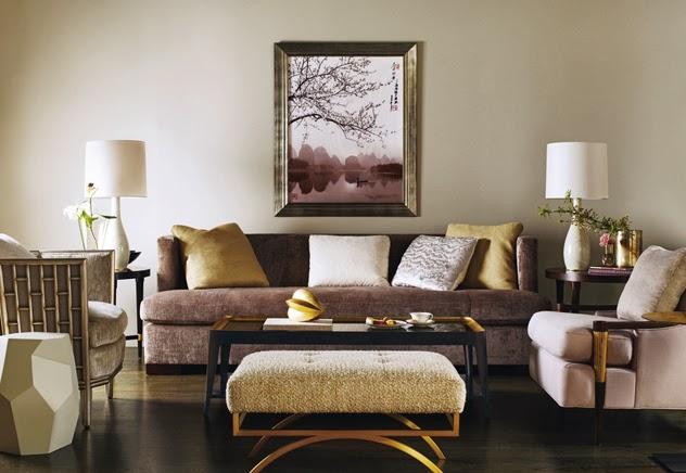 Sala de estar na cor camurca id ias for Cores para sala de estar 2017