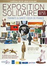 EXPOSITION SOLIDAIRE AVEC ENFANTS ET SANTÉ 23/24/25 NOVEMBRE 2012 AU CHATEAU DE SAINT JEAN LE BLANC