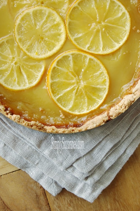 Simply Suzanne's AT HOME: lemon and honey tart with salted ...