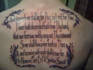 Boondock saints prayer tattoo for Boondock saints veritas aequitas tattoos