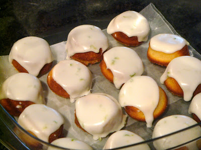 Almond, elderflower, and lime travel cakes