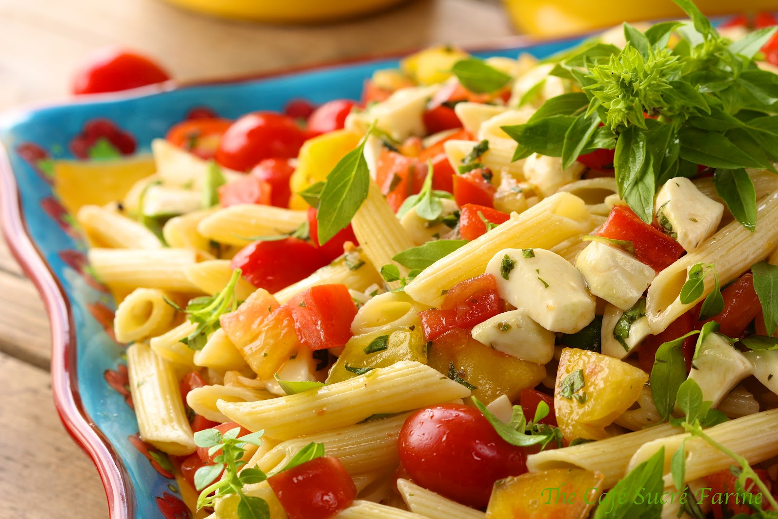 Penne Pasta Salad w/ Fresh Mozzarella and Heirloom Tomatoes | The ...