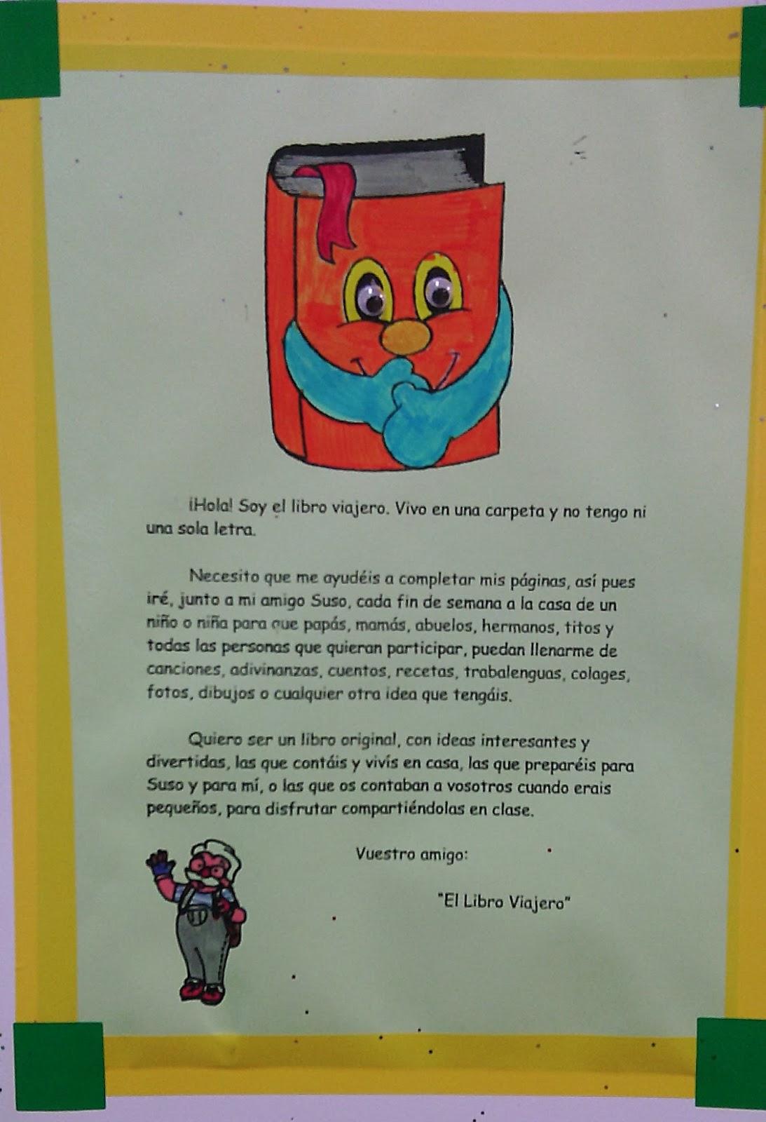 Historias de mi cole el libro viajero - Ideas libro viajero infantil ...