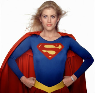 Helen Slater as Supergirl in a promo shot for the 1984 film.