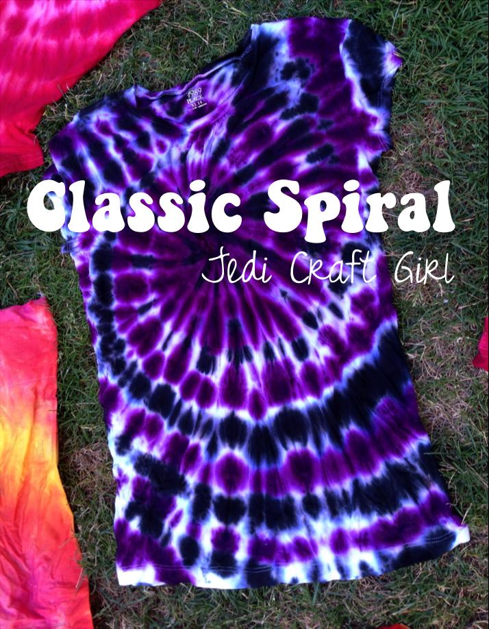 jedi craft girl tie dye 101 the classic spiral. Black Bedroom Furniture Sets. Home Design Ideas