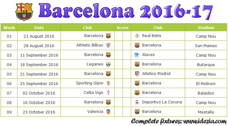 Look Fc Barcelona Fixtures Results   Cavpo