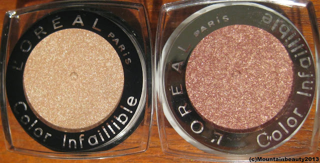 L'Oreal Color Infallible Eyeshadow forever pink hourglass beige