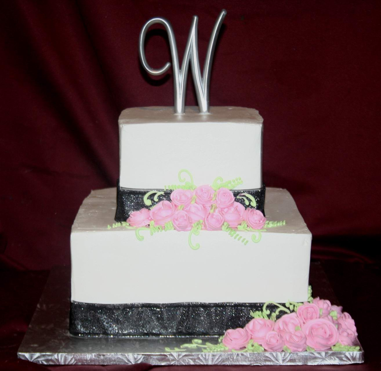 ABC Cake Shop And Bakery Lovely 3 Tier Square Wedding Cake