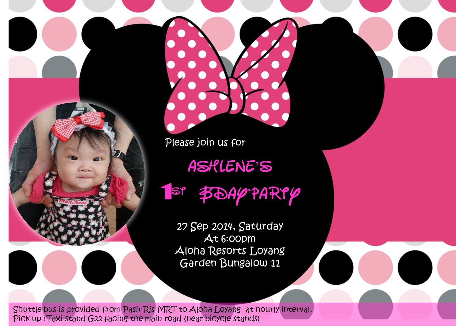 First Was The Minnie Mouse Themed Invitation Card Download Template HERE