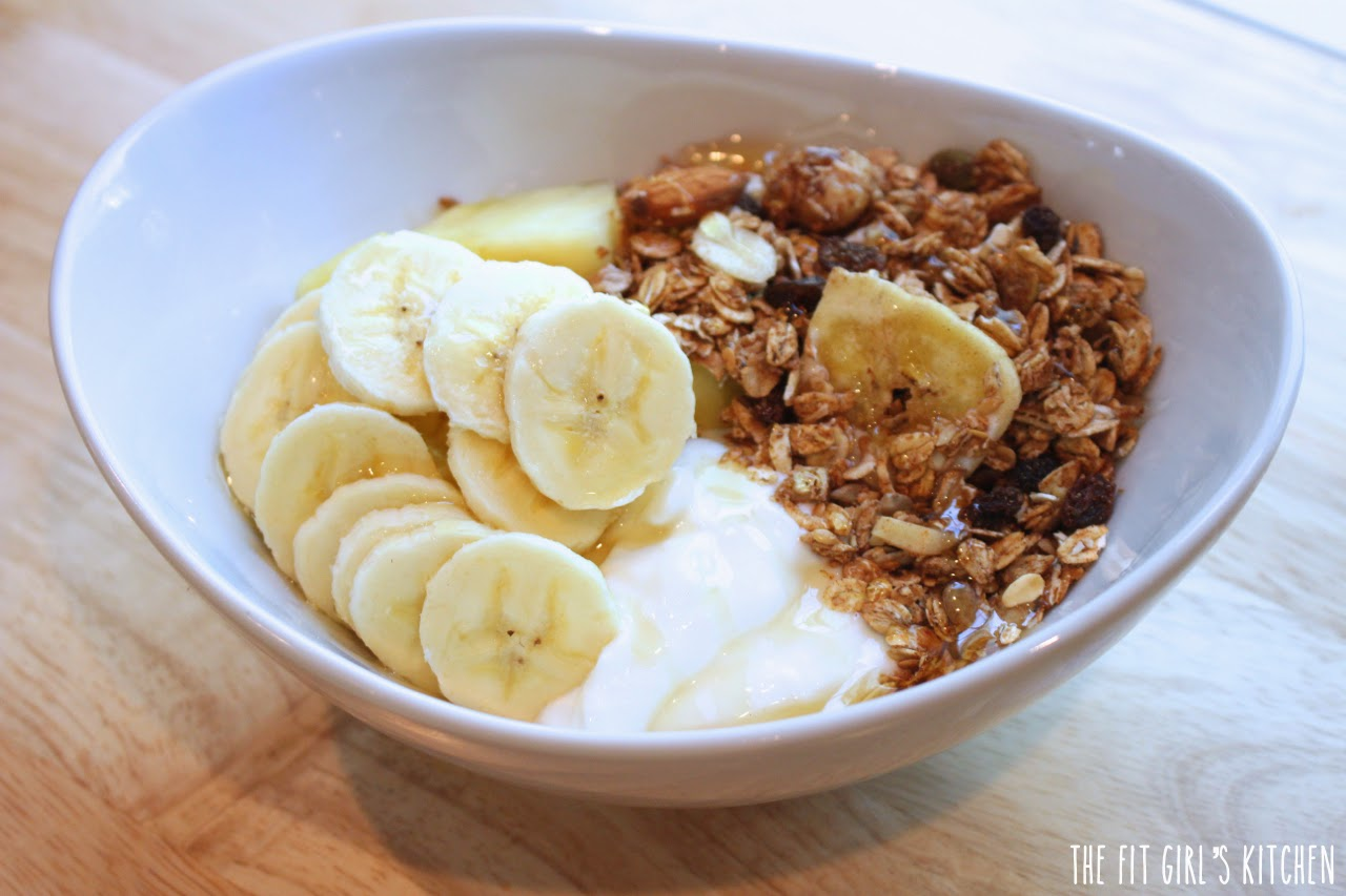 Bali Breakfast Bowl - muesli, greek yogurt, pineapple, banana, honey