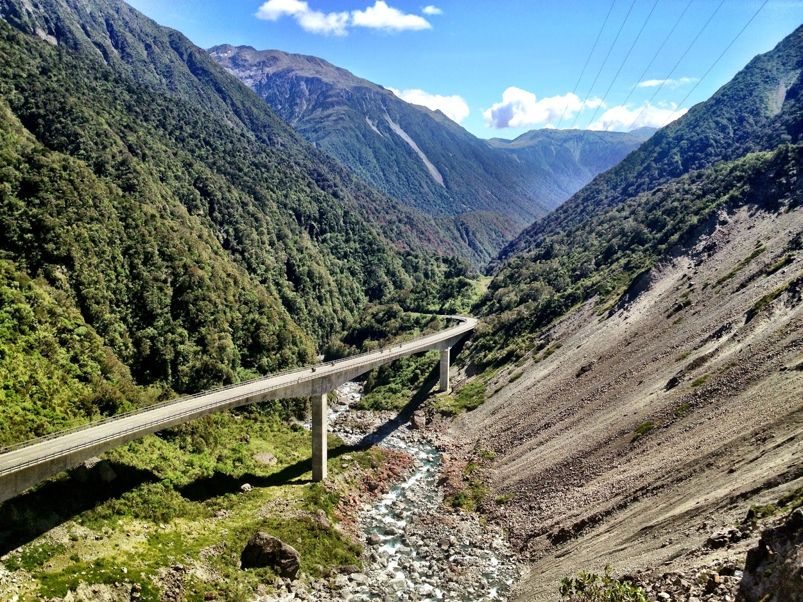 Part of the road over Arthurs Pass, New Zealand