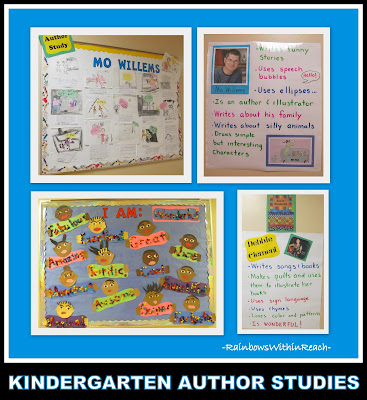 Kindergarten Author Studies Comparison of Mo Willems and Debbie Clement