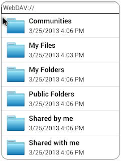 Android FolderSync Remote Folder