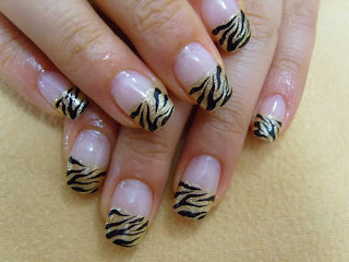 saranje noktiju - animal print nokti 008