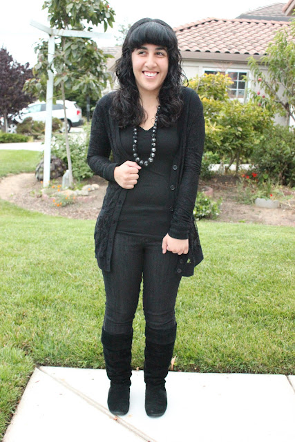 Casual Fall All Black Fashion Outfit