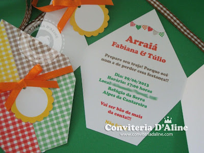 convite festa junina balão