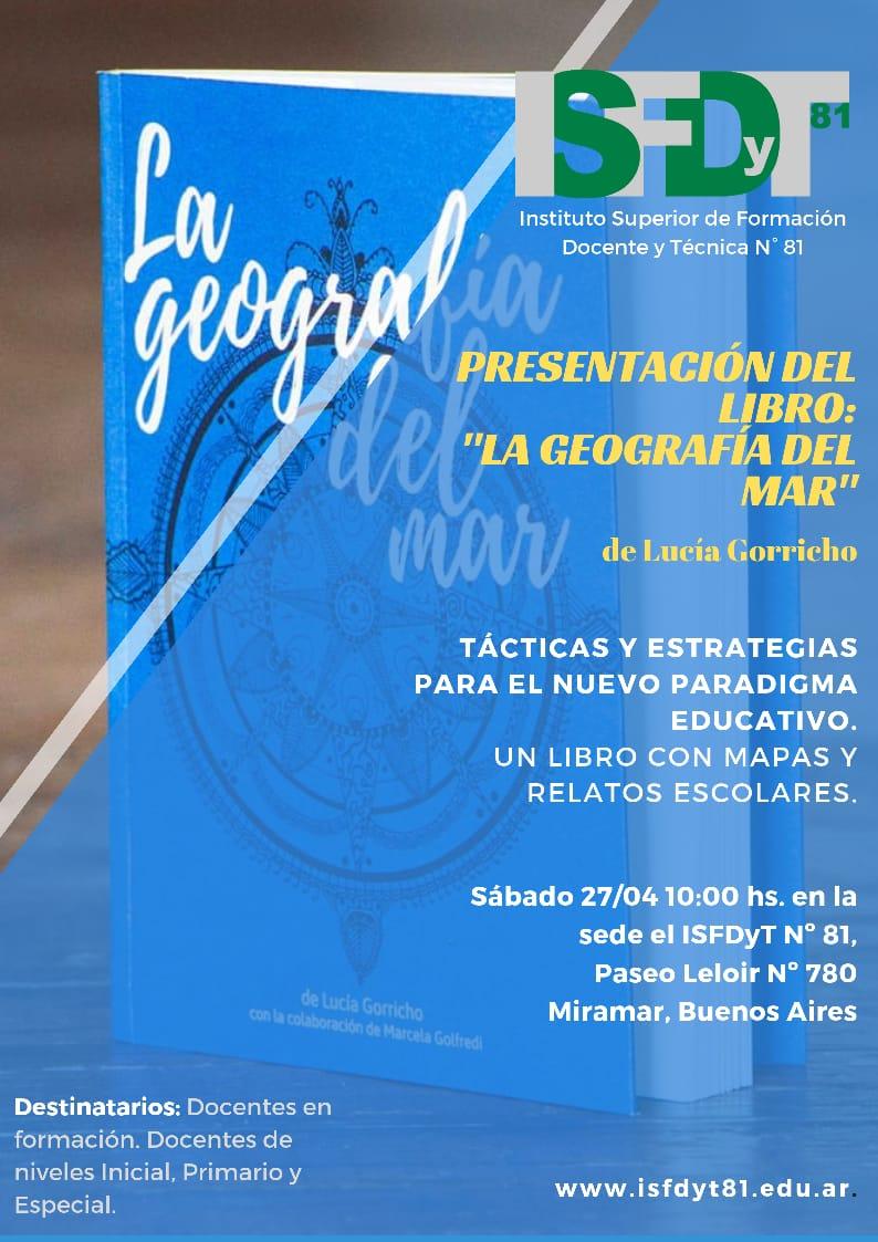 """Presentación del libro """"La Geografía del Mar, un libro con mapas y relatos escolares""""."""