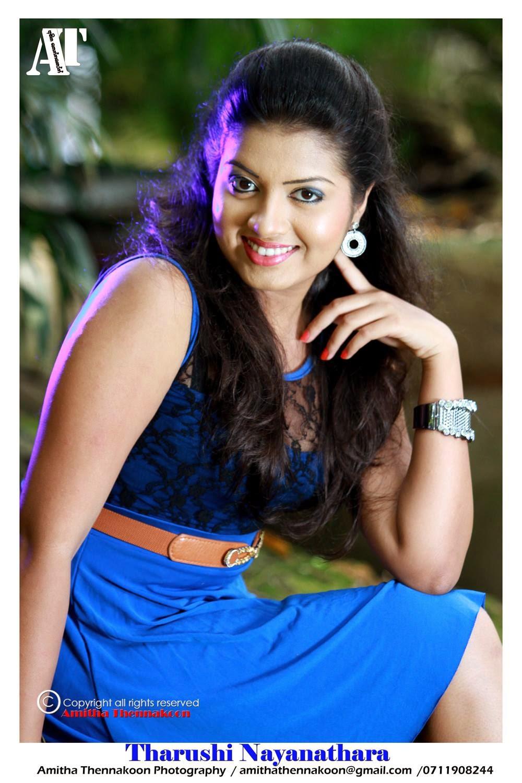 Tharushi Nayanathara blue