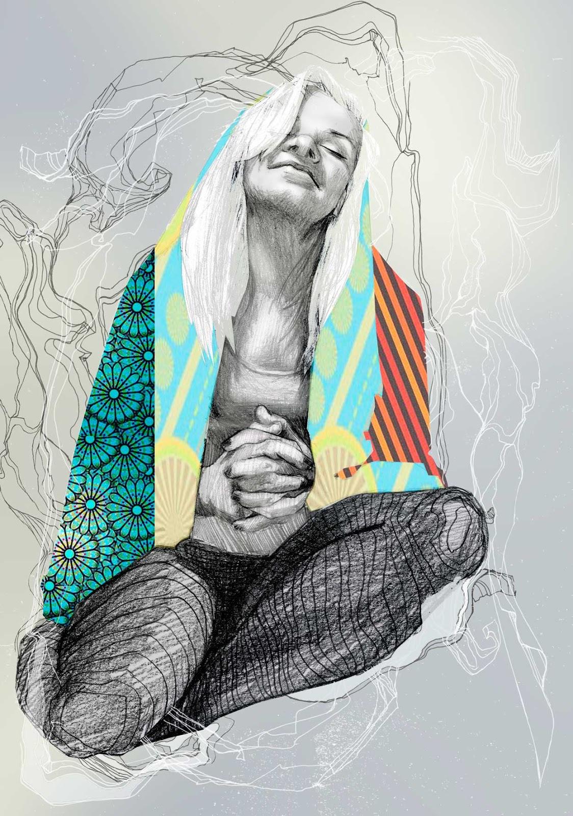 ilustracje make up kobieta kobiece Urbaniak portrety ilustracja na blogi strony internetowe do artykułów wierszy opowiadań illustration for magazines articles book poems prayer woman